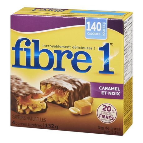 Fibre 1 Caramel Nut Chewy Bars | Walmart.ca