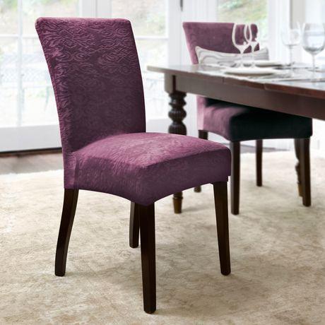 surefit damask stretch dining chair slipcover. Black Bedroom Furniture Sets. Home Design Ideas