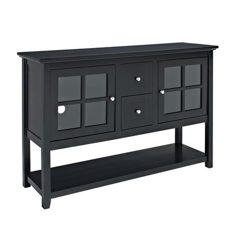 52 black wood console table tv stand walmart canada for Table 19 review