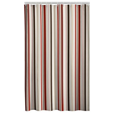 Mainstays Odyssey Solid Color Shower Curtain Costa BrownMainstays Fabric Liner