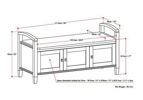 banc d 39 entr e norfolk. Black Bedroom Furniture Sets. Home Design Ideas