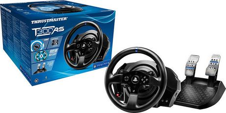 volant pour jeux de course t300rs de thrustmaster pour ps4. Black Bedroom Furniture Sets. Home Design Ideas