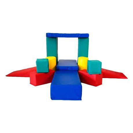 Apple athletic 14 pieces foam building block set for Foam block house construction