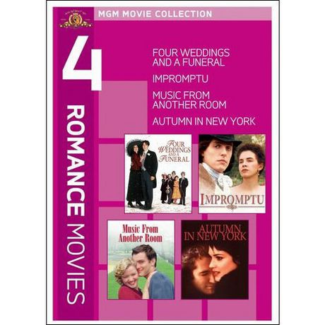 4 Romance Movies Four Weddings And A Funeral Impromptu Music From Another Room Autumn In