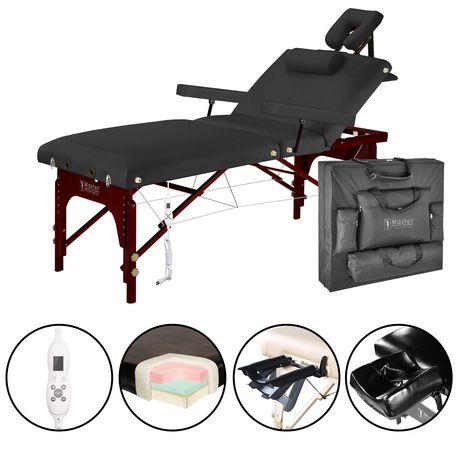 Master massage 31 inch montclair salon therma top portable massage table package black color - Portable massage table walmart ...