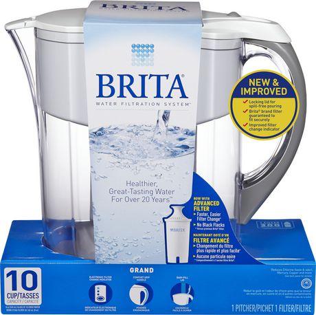 brita grand pitcher white. Black Bedroom Furniture Sets. Home Design Ideas