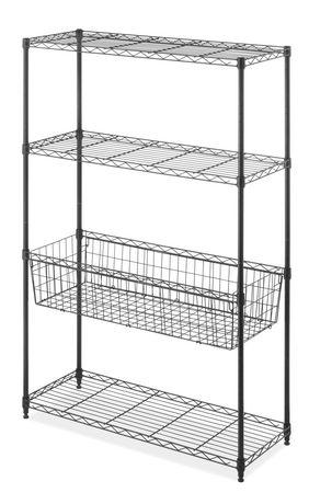 Metal Gridwall Shelving Black 23 x 12 x 2