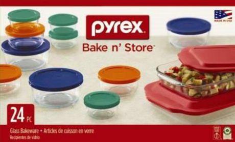 Pyrex 174 24pc Bake Amp Store Set Walmart Ca