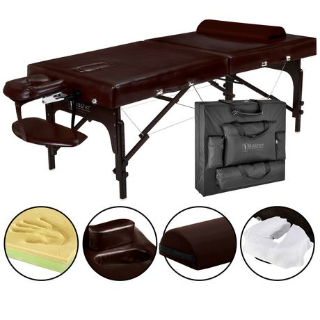 Master massage 31 inch supreme lx portable massage table package with face port and memory foam - Portable massage table walmart ...