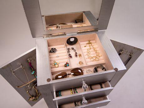 hives honey armoire bijoux hannah argent. Black Bedroom Furniture Sets. Home Design Ideas