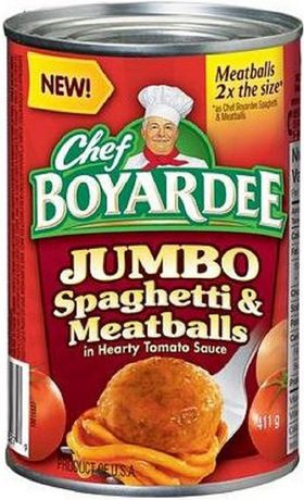 Chef Boyardee 174 Jumbo Spaghetti And Meatballs In Hearty