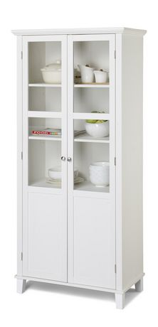 Homestar 2 Door Storage Cabinet In White