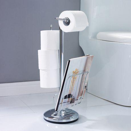 Porte papier hygi nique avec d rouleur de hometrends for Porte papier wc sur pied