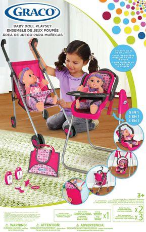 Graco 5 In 1 Baby Doll Playset Walmart Ca