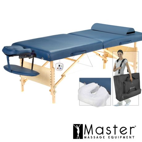 Aster heated top lx 30 portable massage table package - Portable massage table walmart ...