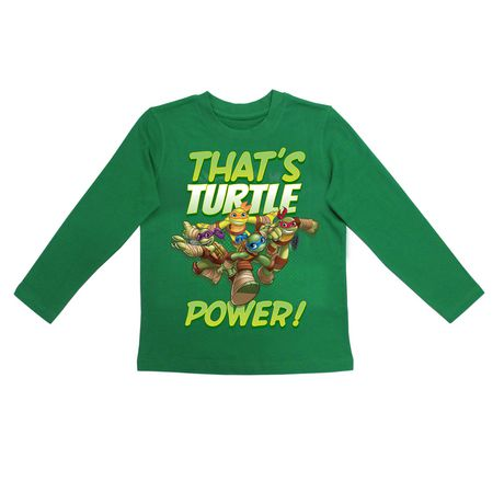 Teenage mutant ninja turtles boys long sleeve tee shirt for Green turtle t shirts review
