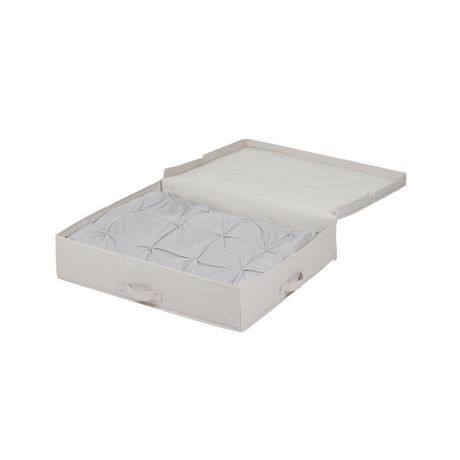 Bo te de rangement en toile sous le lit storit de meubles - Boite de rangement plastique sous lit ...