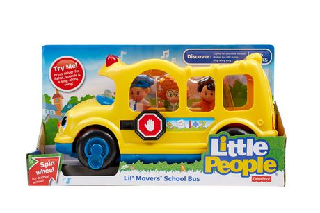 fisher price little people lil 39 movers school bus. Black Bedroom Furniture Sets. Home Design Ideas
