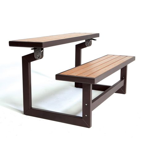 Banc transformable de lifetime for Table exterieur walmart