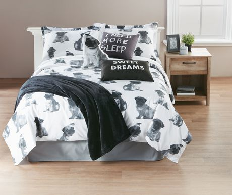 Hometrends Pug Duvet Cover Set Walmart Ca