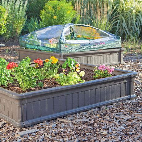 Lifetime Raised Garden Bed Kit 2 Beds 1 Enclosure