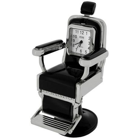barber salon chair collectible desktop mini clock. Black Bedroom Furniture Sets. Home Design Ideas