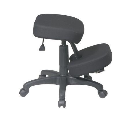 chaise appui genoux ergonomique avec mousse m moire de work smart. Black Bedroom Furniture Sets. Home Design Ideas