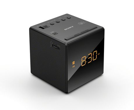 sony alarm clock with fm am radio black icfc1b. Black Bedroom Furniture Sets. Home Design Ideas