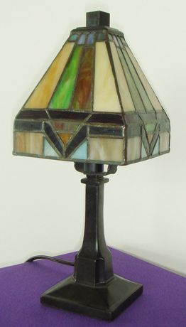 tiffany style mini table lamp. Black Bedroom Furniture Sets. Home Design Ideas