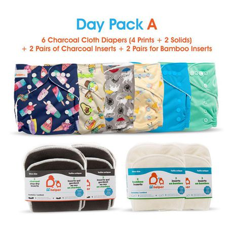 Cloth Diaper Inserts NO Microfiber OR Fleece Pack of 10. 3-Layered Bamboo Charcoal Inserts Cloth Diaper Inserts KaWaii Baby Bamboo Charcoal Inserts for Newborn 6-22 lbs Cloth Diapers