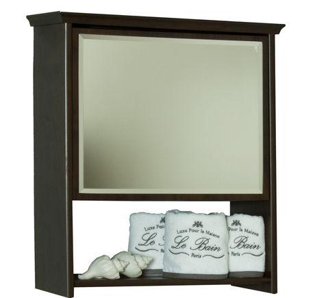Armoire murale avec miroir noyer for Miroir walmart