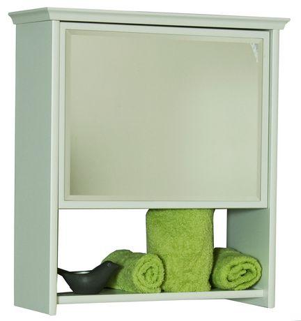 Armoire murale avec miroir blanc for Miroir walmart