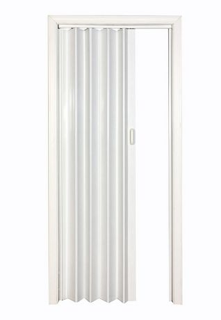 Home style white via 48 accordion folding door for Porte accordeon
