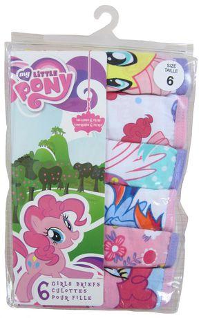 Hasbro Girls My Little Pony 6 Pack Brief Walmart Ca
