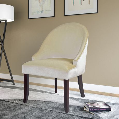 Corliving Velvet Cream Accent Chair Walmart Ca