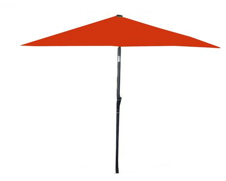 parasol de marche 9 pieds orange. Black Bedroom Furniture Sets. Home Design Ideas