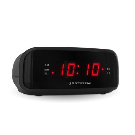 electrohome digital am fm clock radio with battery backup dual alarm eaac200. Black Bedroom Furniture Sets. Home Design Ideas