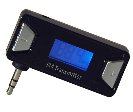 exian auxiliary port fm transmitter black sa 036 anx. Black Bedroom Furniture Sets. Home Design Ideas
