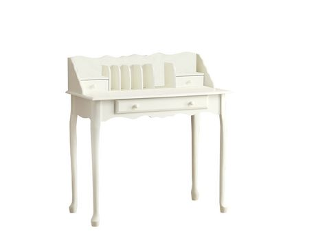 bureau secretaire de 36 po monarch specialties en blanc. Black Bedroom Furniture Sets. Home Design Ideas