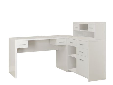 monarch bureau en 39 l 39 blanc hollow core walmart canada. Black Bedroom Furniture Sets. Home Design Ideas