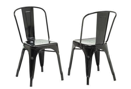 chaise caf en m tal noir lustr de monarch specialties walmart canada. Black Bedroom Furniture Sets. Home Design Ideas