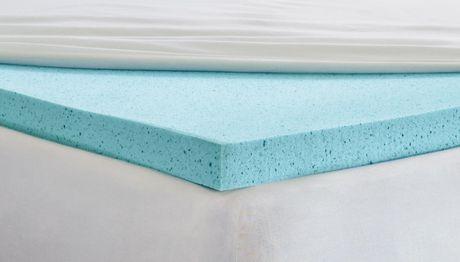 surmatelas mousse m moire de forme avec gel rafra chissant lit 2 places. Black Bedroom Furniture Sets. Home Design Ideas