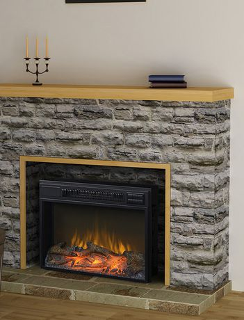 Homestar 24 black wide firebox insert for Brick meuble francais