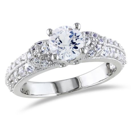 Miabella 1.67 Carat T.G.W. Created White Sapphire Sterling ...