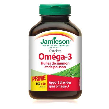 Jamieson salmon fish oils omega 3 complex softgels for Fish oil pills walmart