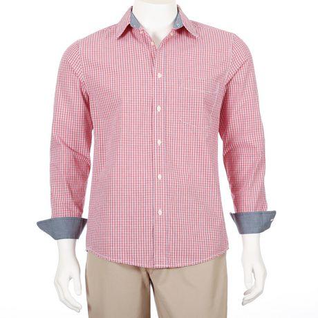 George Men S Long Sleeve Poplin Shirt Walmart Ca