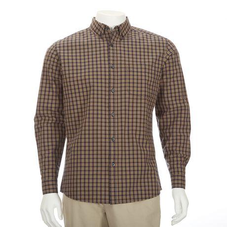 George men s wrinkle resistant dress shirt for Non wrinkle dress shirts