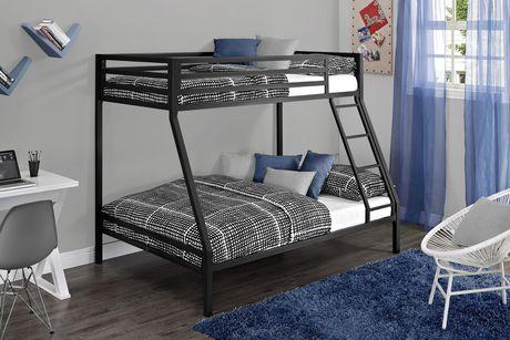 Mainstays Twin Over Full Metal Black Bunk Bed Walmart Ca