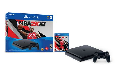 1Tb Playstation 4 Nba 2K18 Bundle Black