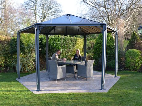 palram hexagon garden gazebo. Black Bedroom Furniture Sets. Home Design Ideas